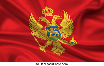 Montenegro - waving flag of montenegro