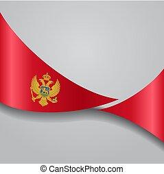 Montenegro wavy flag. Vector illustration. - Montenegro flag...