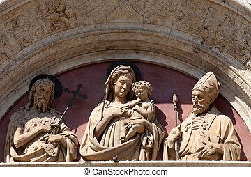 montepulciano, portals, 1つのチャイルド, madonna