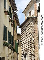 montepulciano, siena, italy:, 歴史的な建物