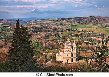 Montepulciano, Siena, Tuscany, Italy: the countryside with ...