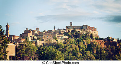Montepulciano - Landscape of Montepulciano, a small town in...