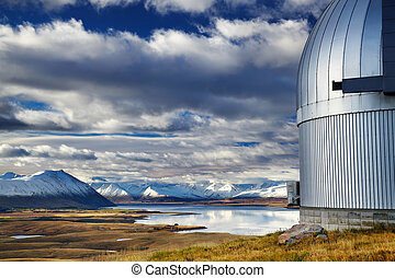 monter, john, observatoire, lac tekapo, nouvelle zélande