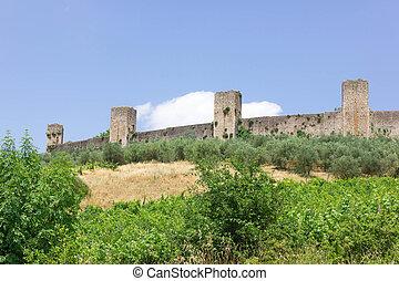 Monteriggioni city Tuscany Italy