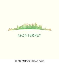 Monterrey skyline silhouette.