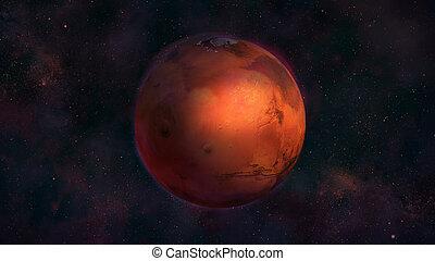 montes, hely, bolygó, mars, tharsis, kilátás