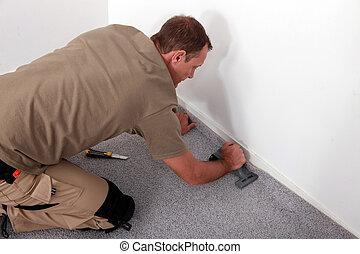 monteur, tapijt