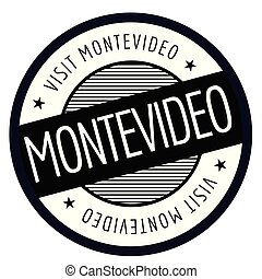 Montevideo geographic stamp. City or country label, sign