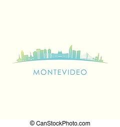 Montevideo skyline silhouette.