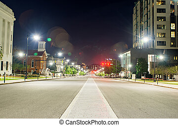 montgomery alabam downtown at night time