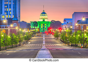 Montgomery, Alabama, USA with the State Capitol