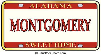 Montgomery City Alabama State License Plate - Montgomery...