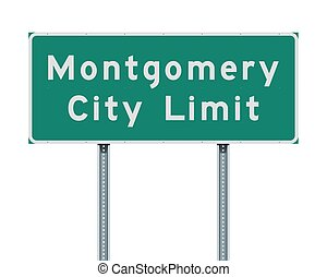 Montgomery City Limit road sign