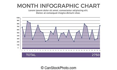 Month Chart Infographic Element - Business Vector...