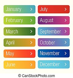 Month of the year button set