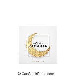 Month Ramadan greeting card with arabic calligraphy Ramadan Kareem