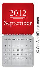 monthly calendar for 2012, September
