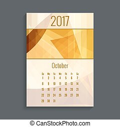 Monthly calendar for 2017. Planner. Template grid. Color...