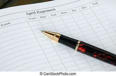 Expense Report - Monthly Expense Report Form with...