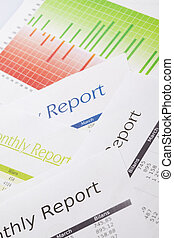Monthly Report, bright colorful tone concept