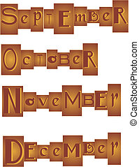 Months grouped in a Set - Set of Months, grouped in a...