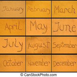 Months in  sand