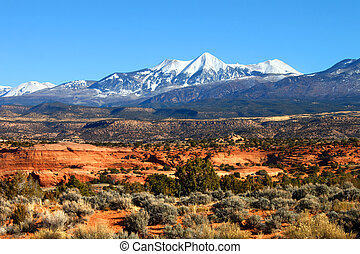 Monti-La Sal National Forest of Utah - Snowcapped Mount...
