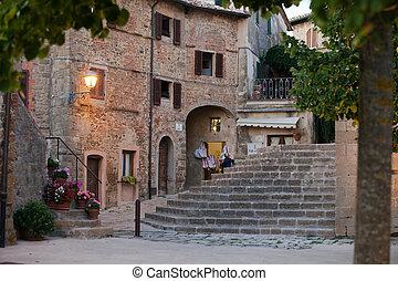 Monticchiello - Medieval village near Pienza . Tuscany. ...
