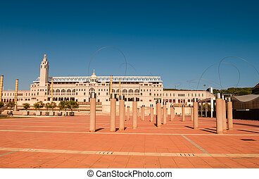 Montjuic Olympic Park in Barcelona, Spain