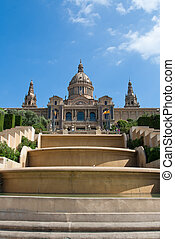 Montjuic Royal Palace in Barcelona, Spain