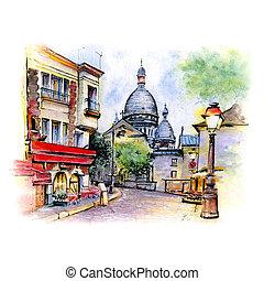 montmartre, párizs, franciaország