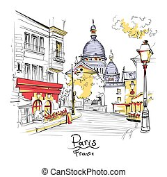montmartre, parís, francia