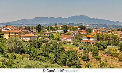 Montopoli in Val d'Arno residential houses. Tuscany, Itaky.