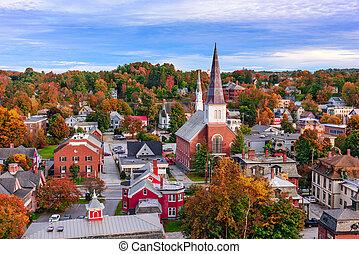 Montpelier, Vermont Townscape - Montpelier, Vermont, USA ...