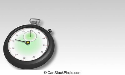 montre, 3d, en mouvement