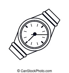 montre-bracelet, analogue, icône