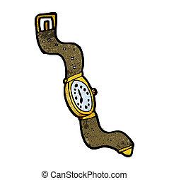 montre-bracelet, dessin animé