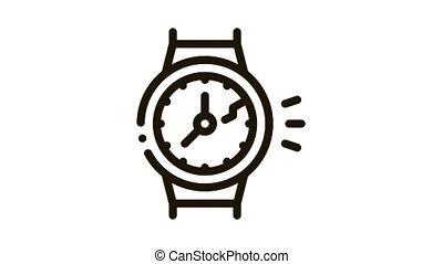 montre, cassé, animation, icône