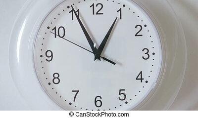 montre, compte, timelapse, -, temps