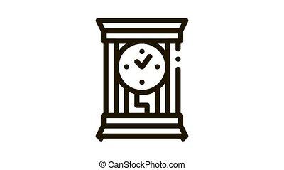 montre, conjugal, animation, icône