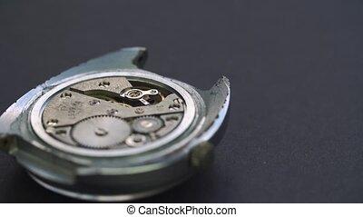 montre, haut, conduire, rouage horloge, chic, fin