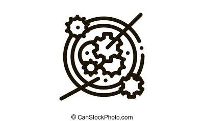 montre, mécanisme, animation, icône