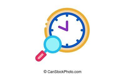 montre, recherche, animation, icône