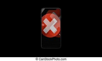 montre, téléphone, danger, virus., espion, theft., 46., infected, spyware, internet, hacker., hacher, identité