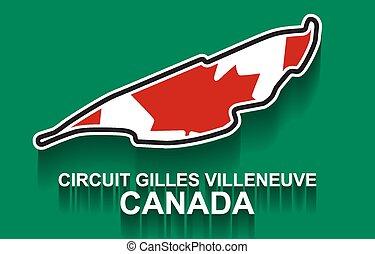 montreal, carrera, o, bandera, pista, prix, f1, canadá, 1, magnífico, fórmula
