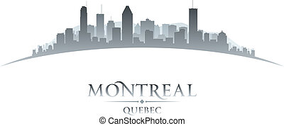 Montreal Quebec Canada city skyline silhouette. Vector ...