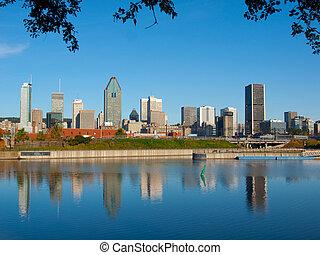 Montreal Skyline Reflection - Reflection of Montreal skyline...