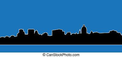 Montreal Skyline Silhouette