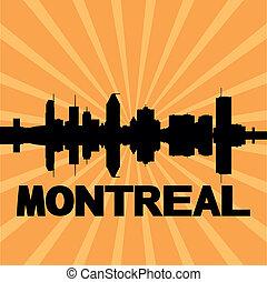 Montreal skyline sunburst