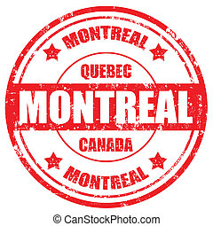 Montreal-stamp - Grunge rubber stamp with text Montreal-...